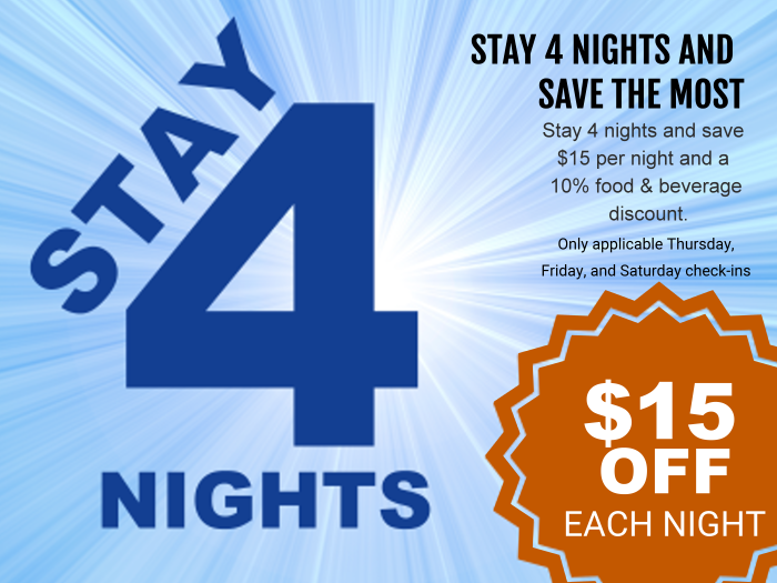 4 day LBI hotel room discount package - our best offer